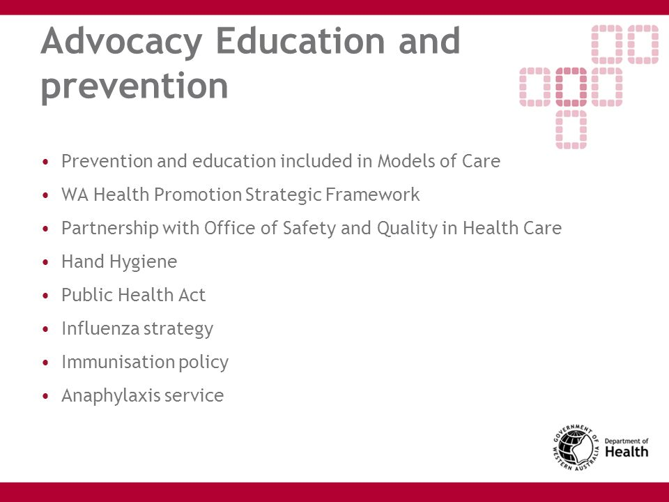 Advocacy Education and prevention