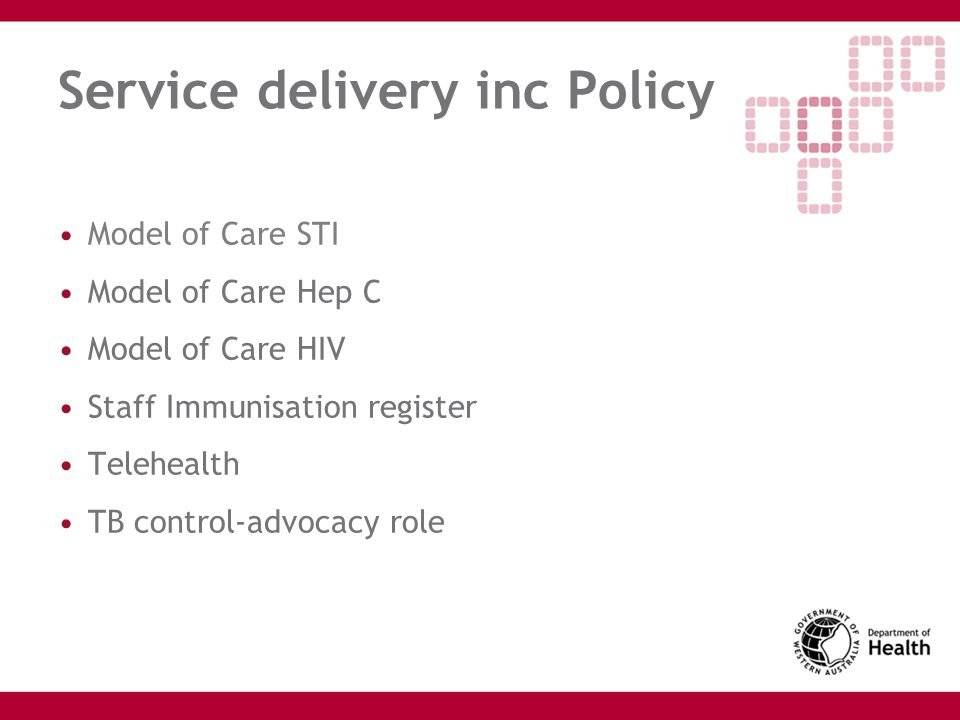 Service delivery inc Policy