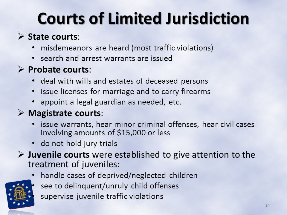 Courts of Limited Jurisdiction