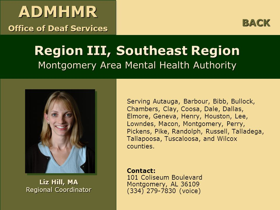 Region III, Southeast Region Montgomery Area Mental Health Authority