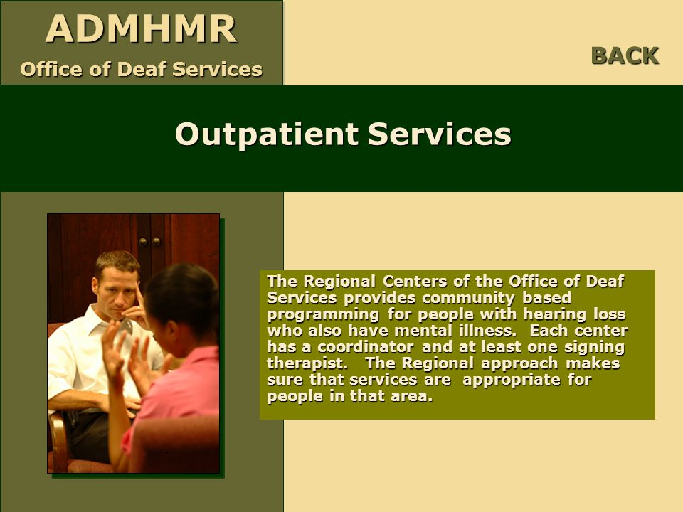 Outpatient Services BACK
