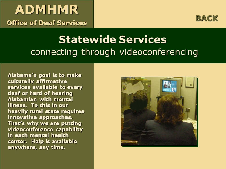 Statewide Services connecting through videoconferencing