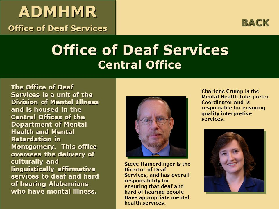 Office of Deaf Services Central Office