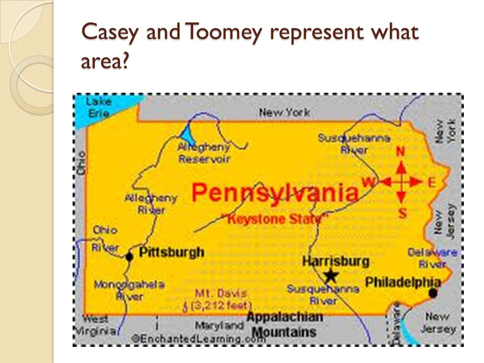 Casey and Toomey represent what area
