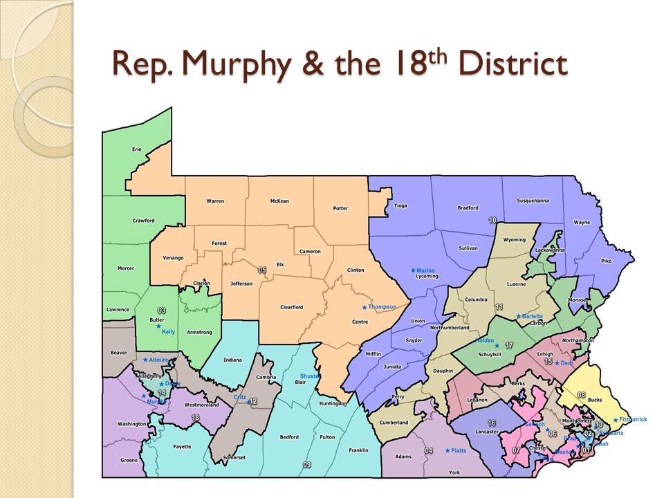 Rep. Murphy & the 18th District