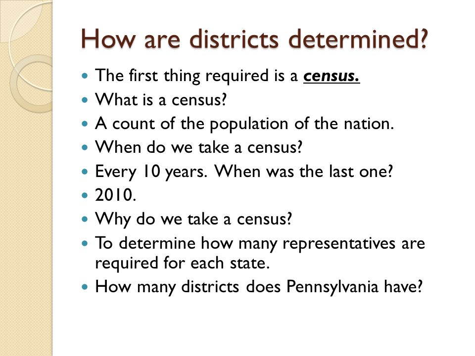 How are districts determined