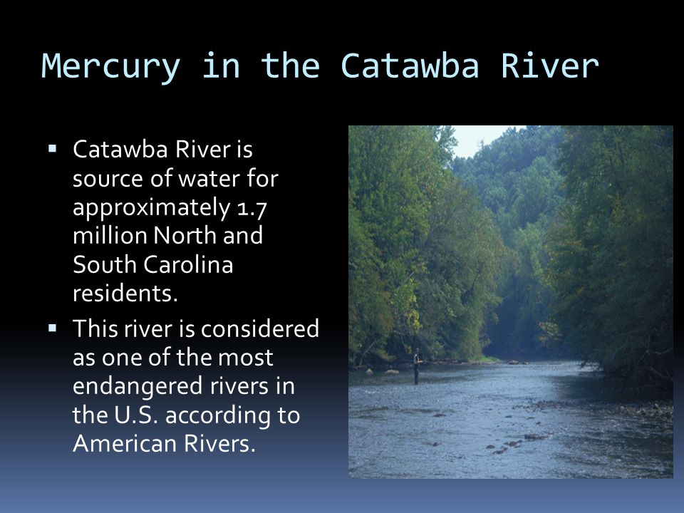 Mercury in the Catawba River