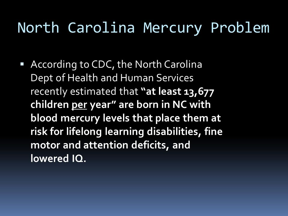 North Carolina Mercury Problem