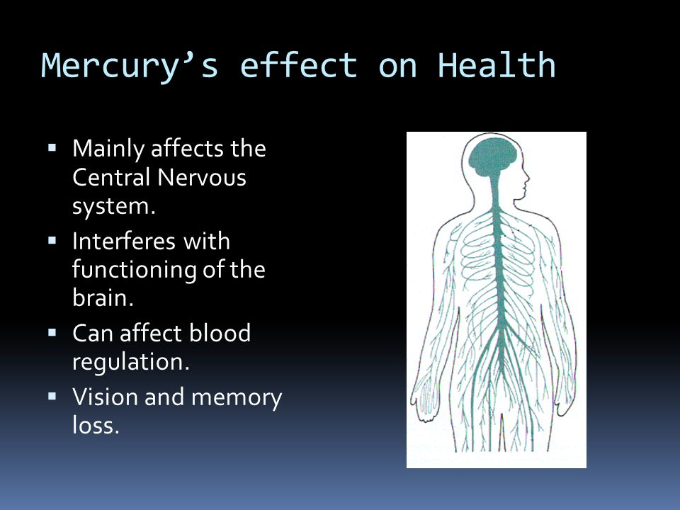 Mercury's effect on Health