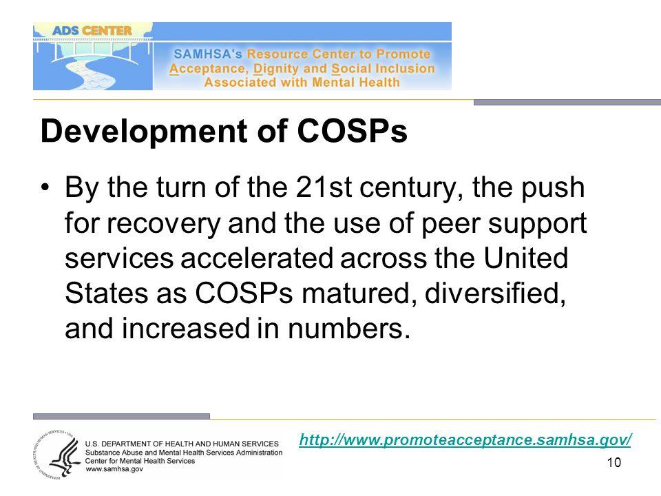 Development of COSPs