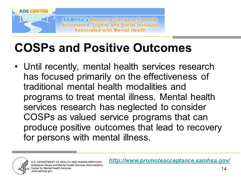 COSPs and Positive Outcomes