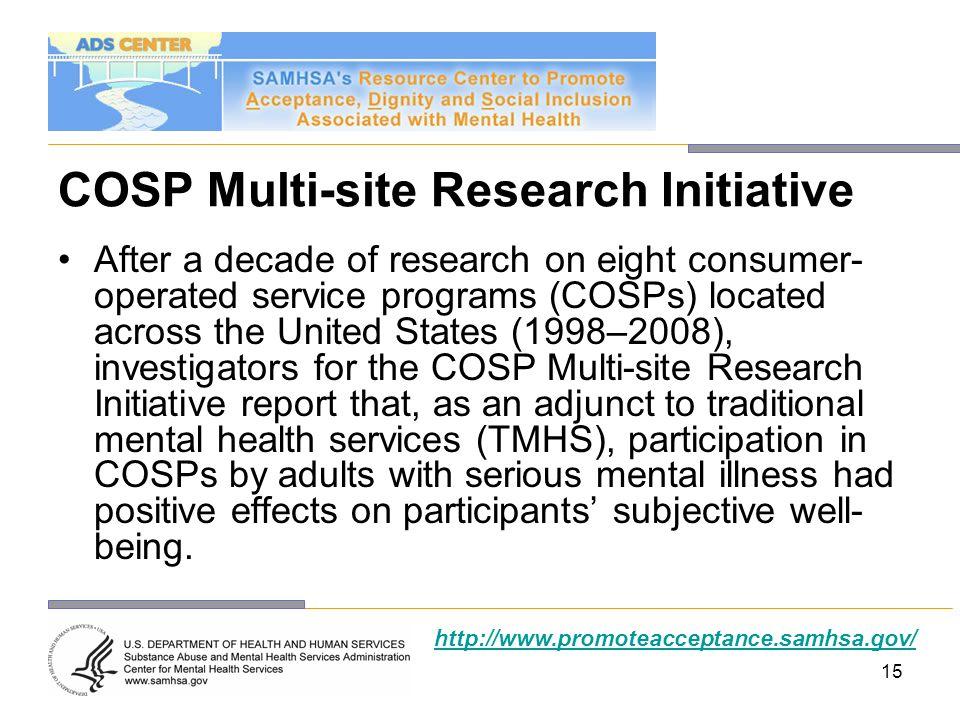 COSP Multi-site Research Initiative