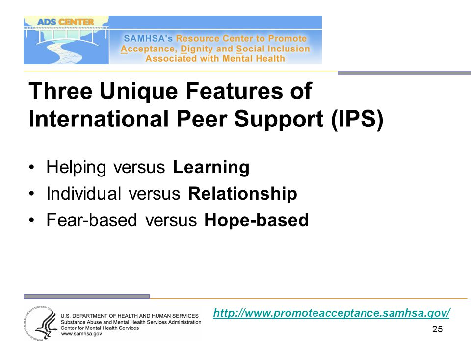 Three Unique Features of International Peer Support (IPS)