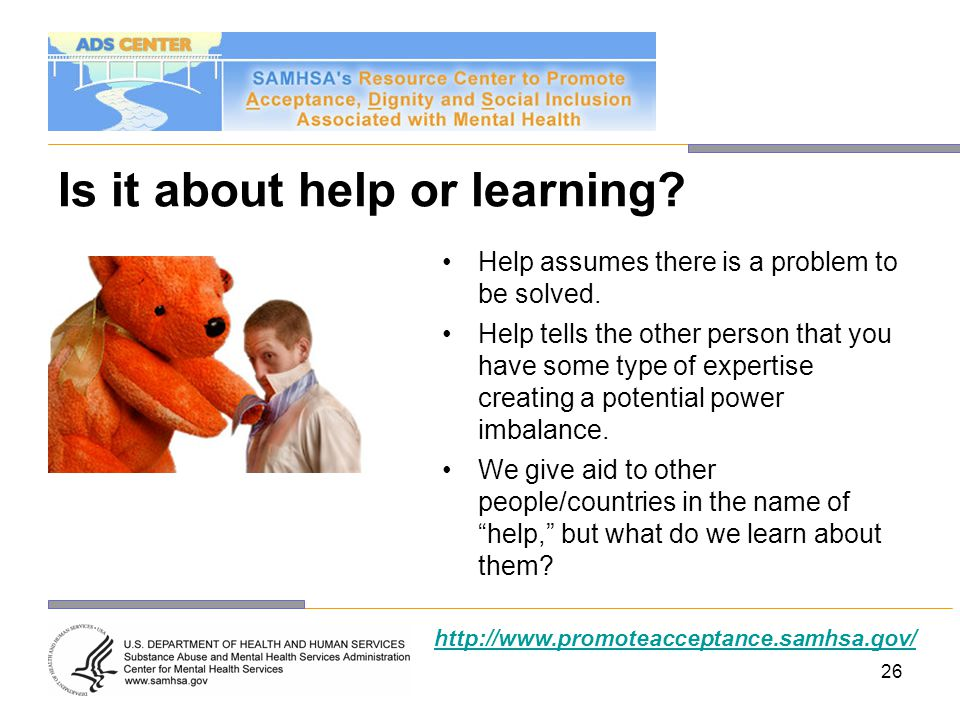 Is it about help or learning