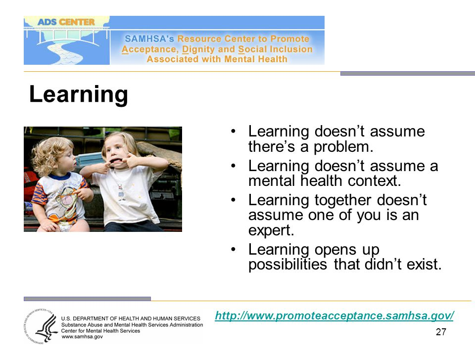 Learning Learning doesn't assume there's a problem.