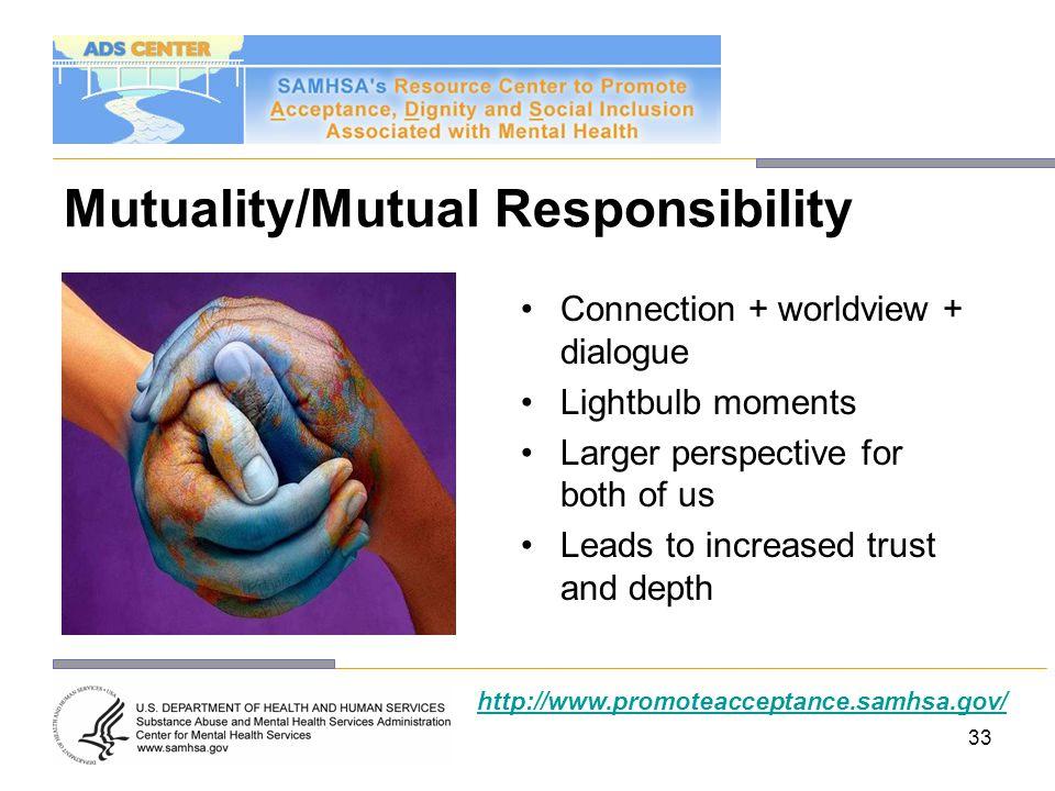 Mutuality/Mutual Responsibility