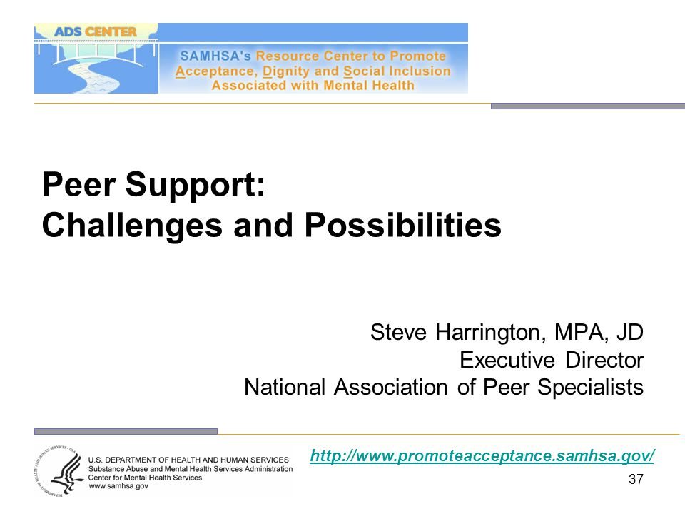 Peer Support: Challenges and Possibilities