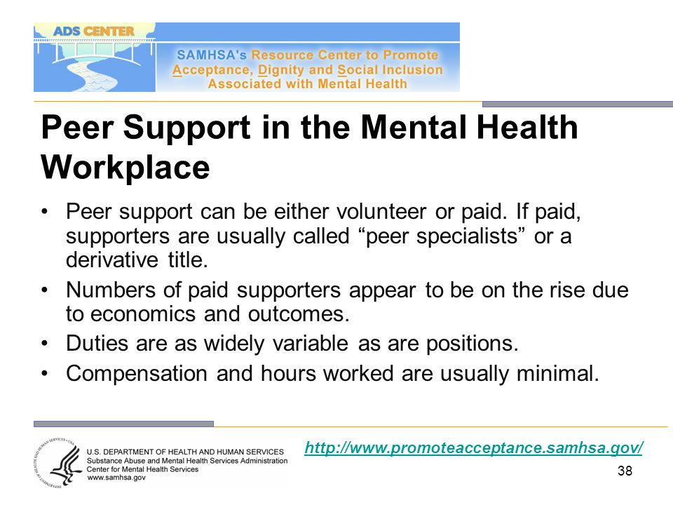 Peer Support in the Mental Health Workplace