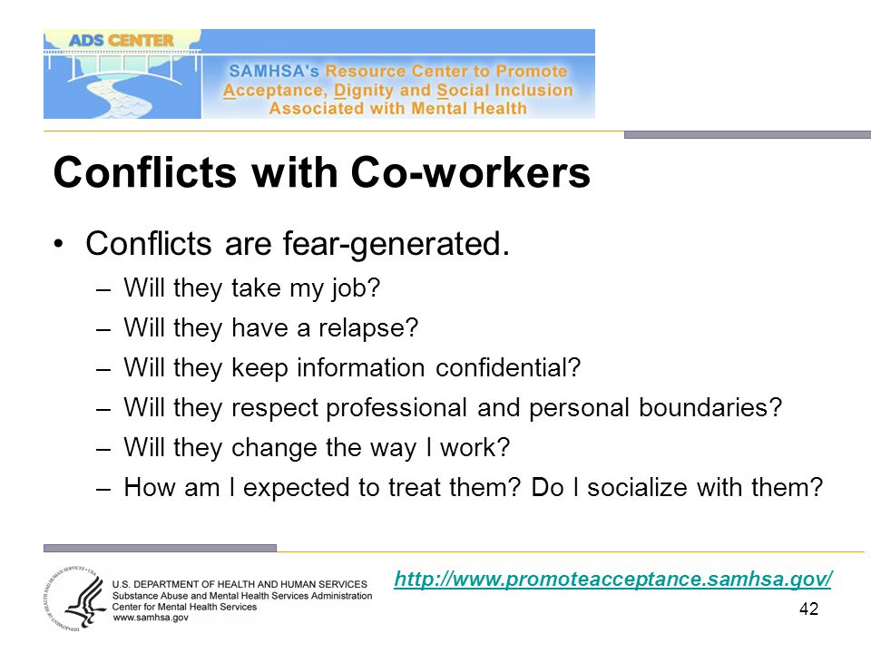 Conflicts with Co-workers
