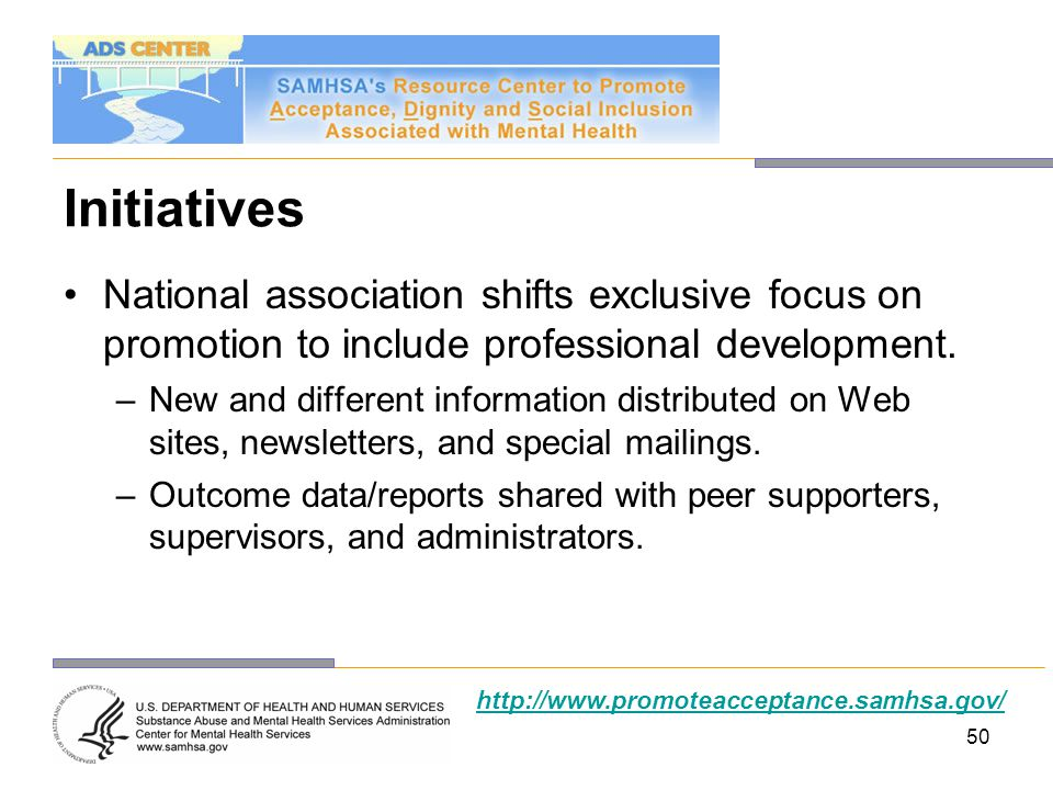 Initiatives National association shifts exclusive focus on promotion to include professional development.