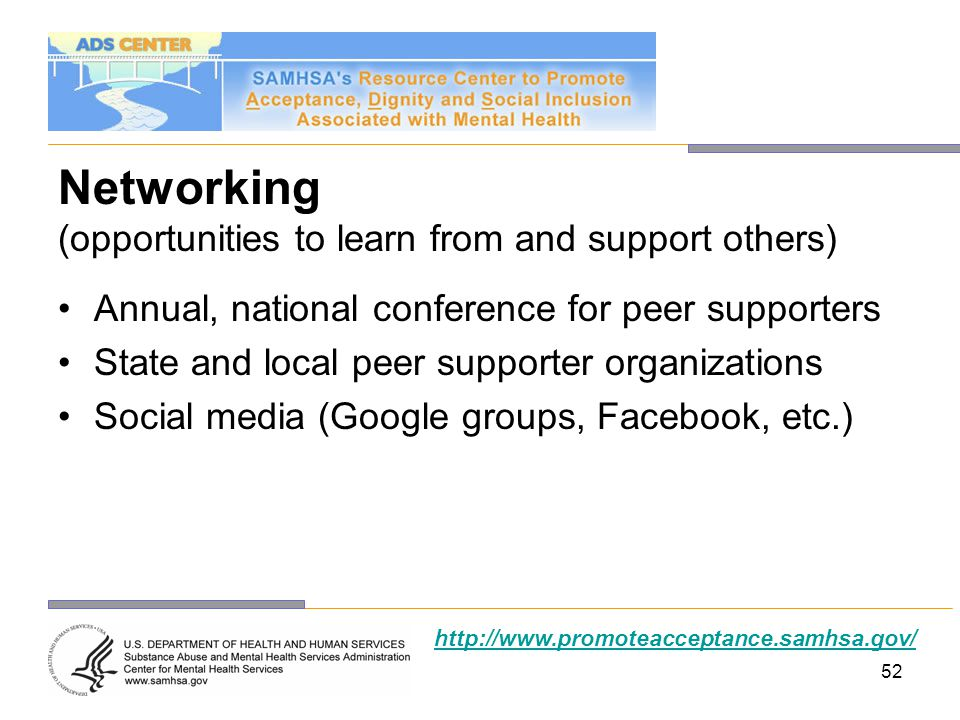 Networking (opportunities to learn from and support others)