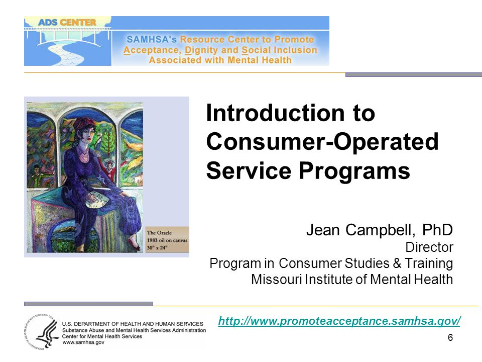 Introduction to Consumer-Operated Service Programs