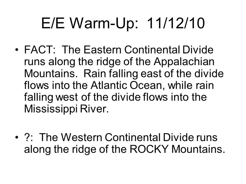 E/E Warm-Up: 11/12/10