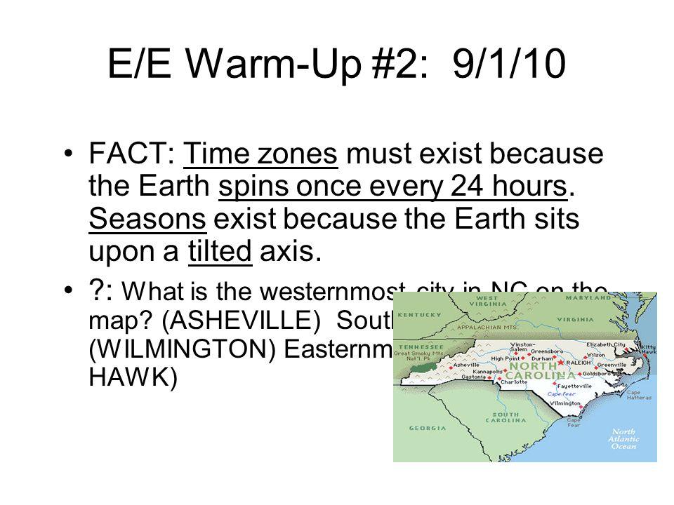 E/E Warm-Up #2: 9/1/10