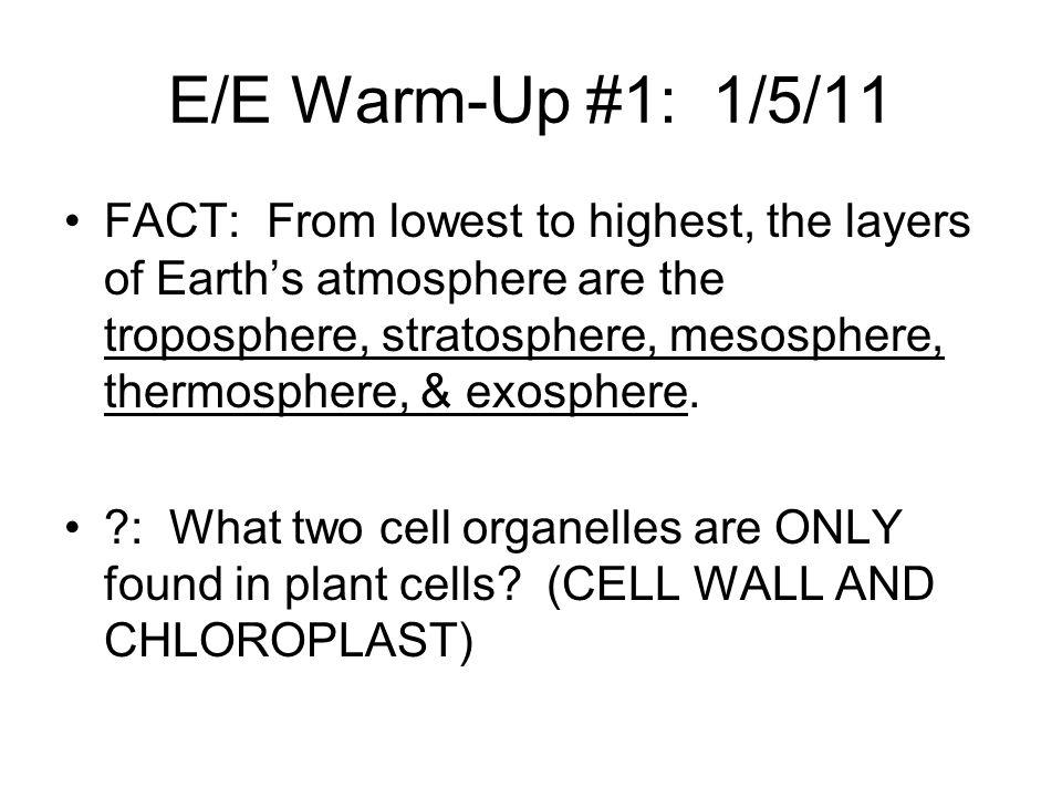 E/E Warm-Up #1: 1/5/11