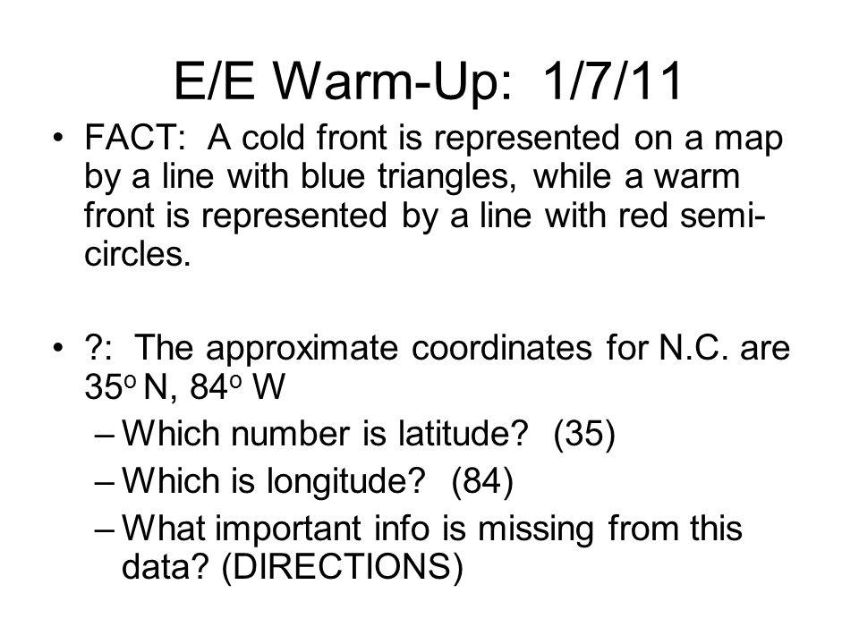E/E Warm-Up: 1/7/11