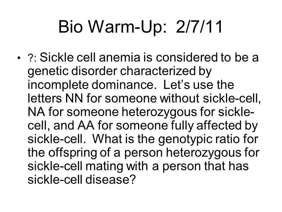 Bio Warm-Up: 2/7/11