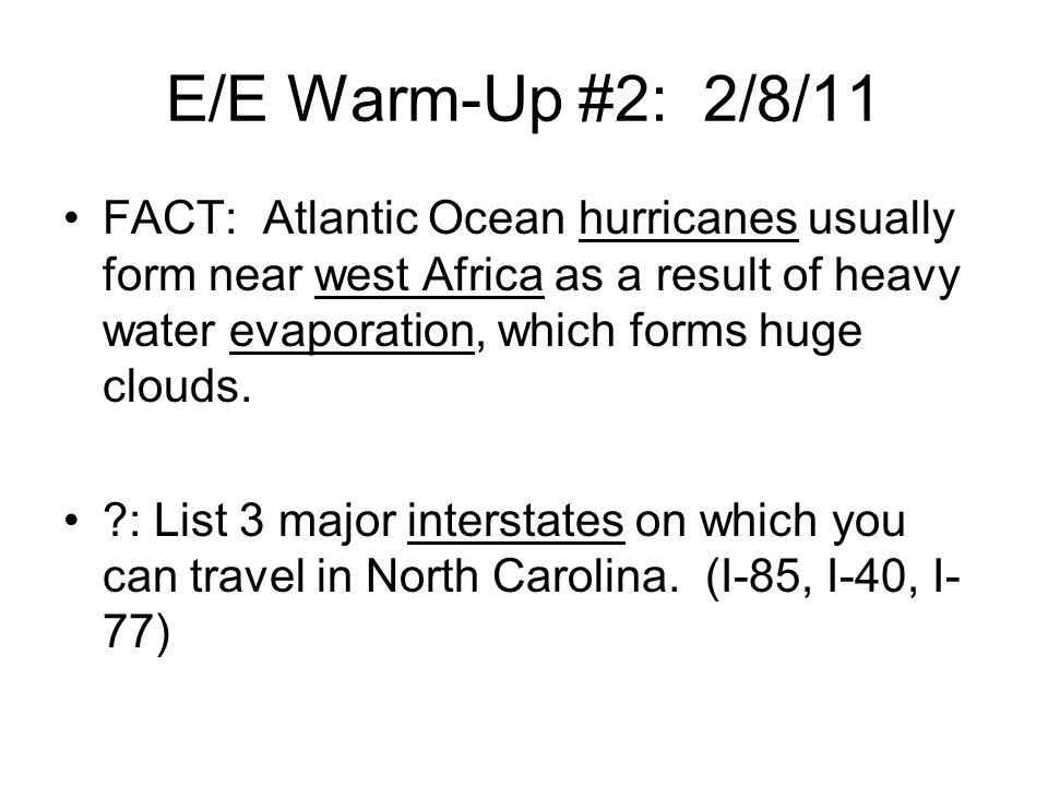 E/E Warm-Up #2: 2/8/11