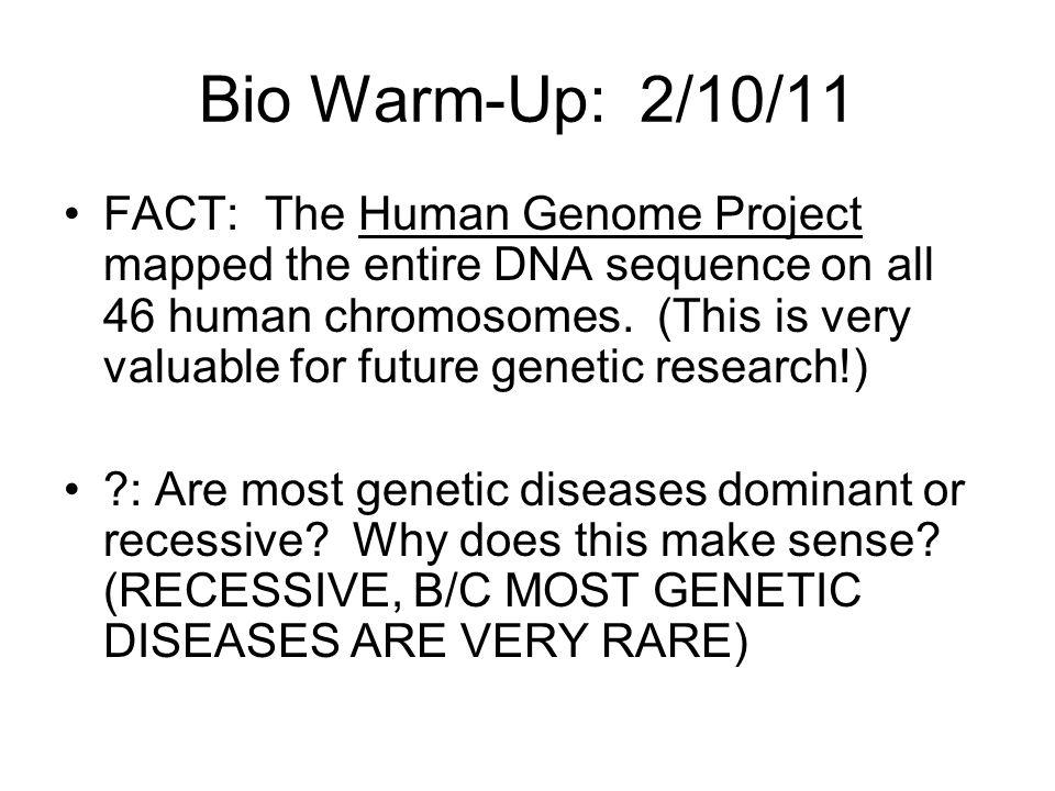 Bio Warm-Up: 2/10/11