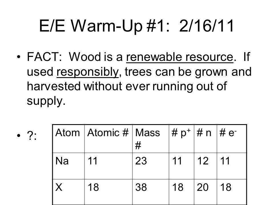 E/E Warm-Up #1: 2/16/11