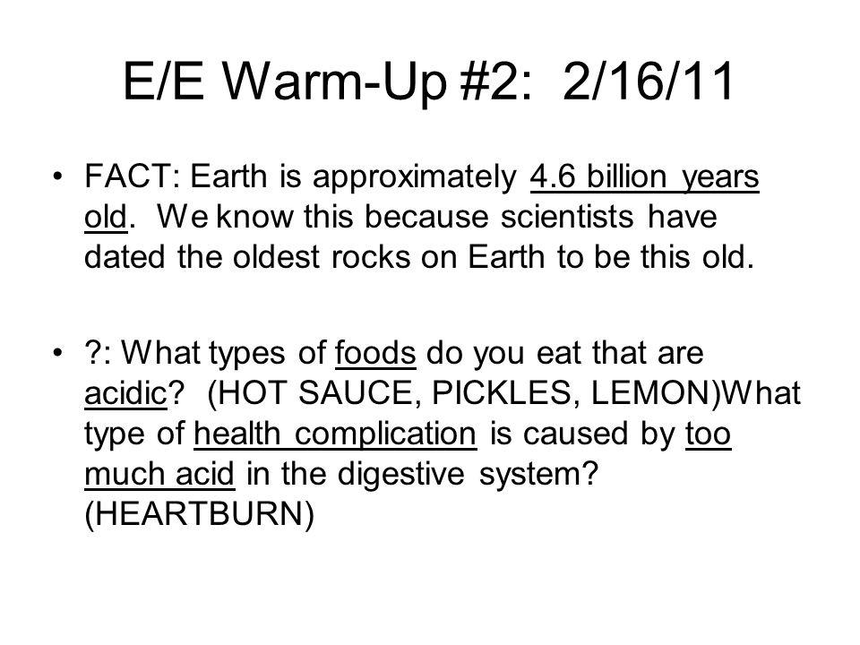E/E Warm-Up #2: 2/16/11