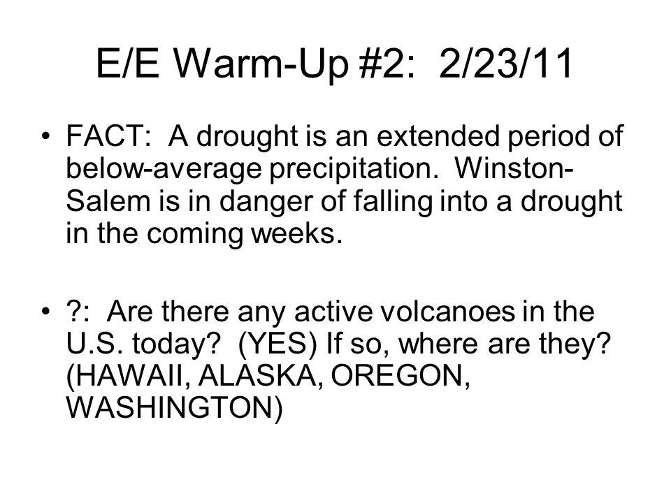 E/E Warm-Up #2: 2/23/11