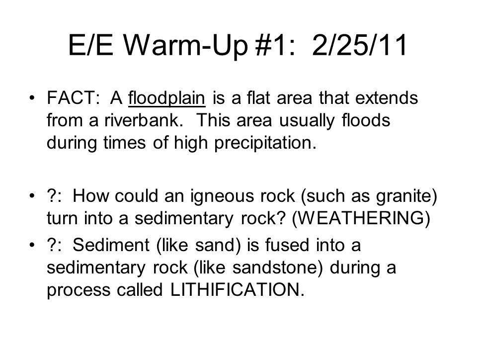 E/E Warm-Up #1: 2/25/11
