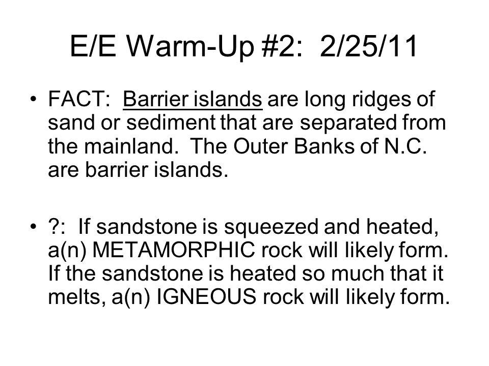 E/E Warm-Up #2: 2/25/11