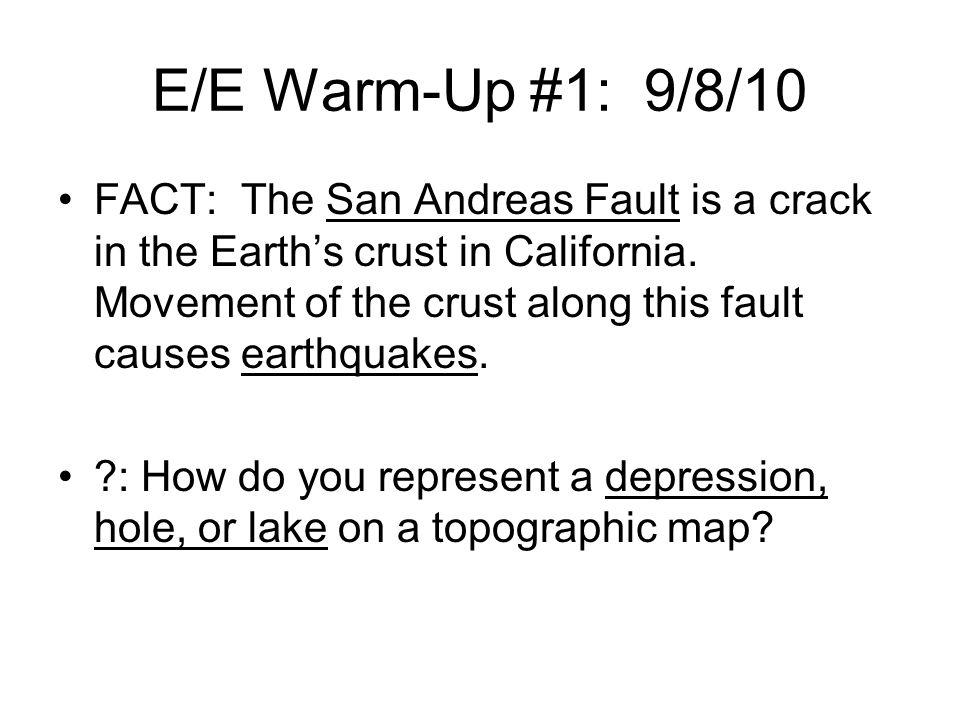 E/E Warm-Up #1: 9/8/10