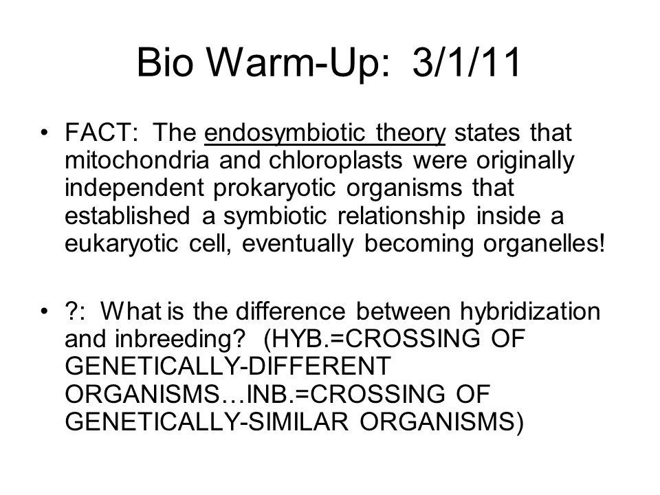 Bio Warm-Up: 3/1/11