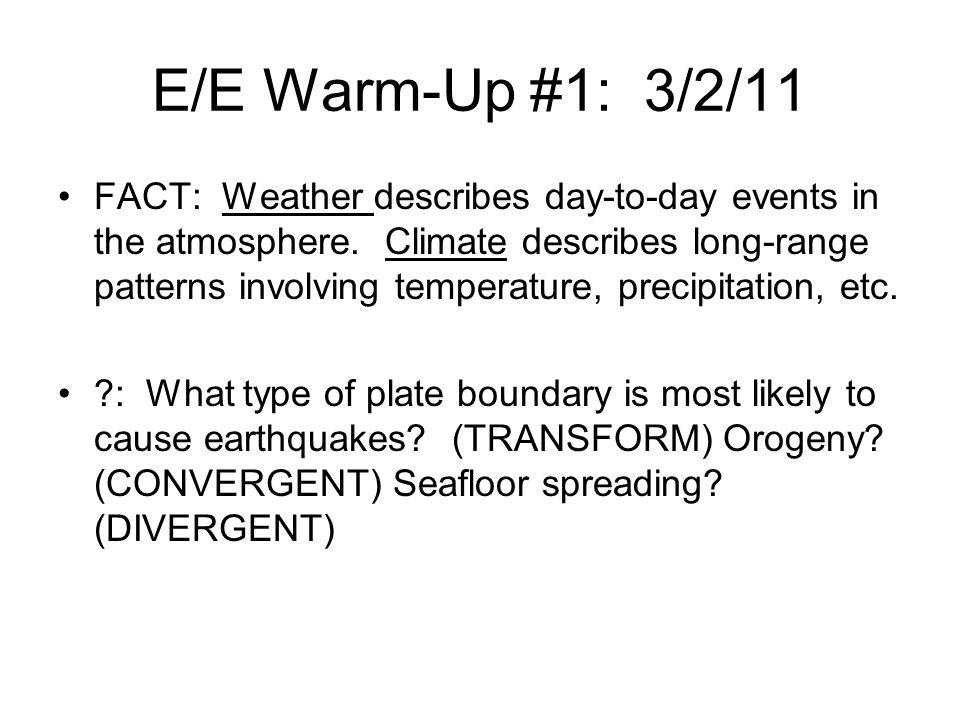 E/E Warm-Up #1: 3/2/11