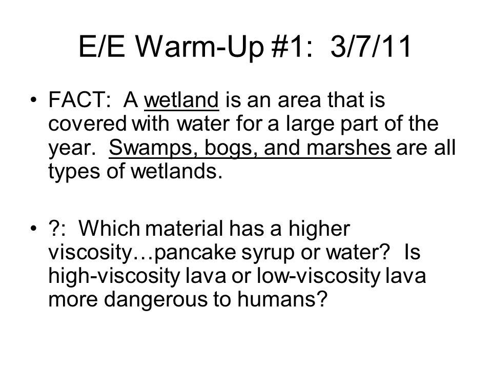 E/E Warm-Up #1: 3/7/11