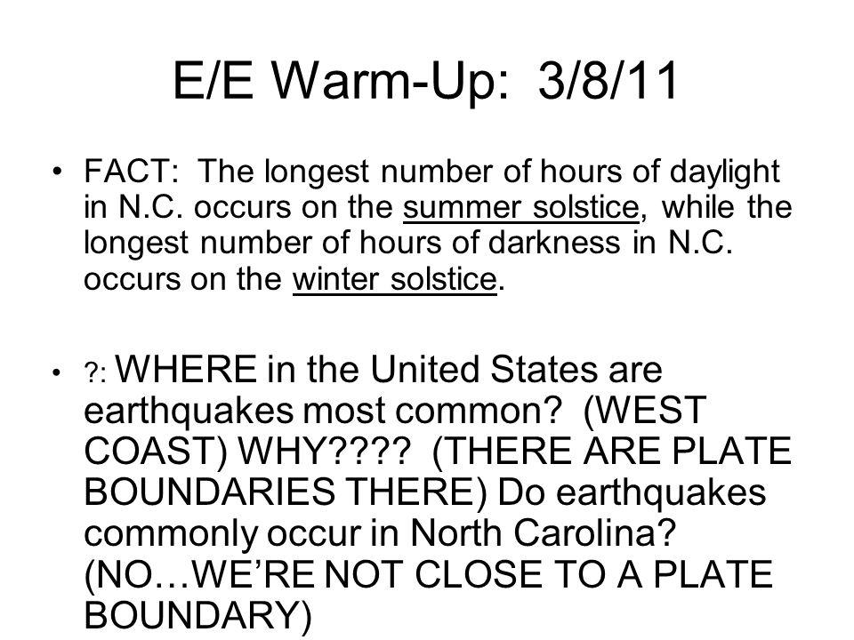 E/E Warm-Up: 3/8/11