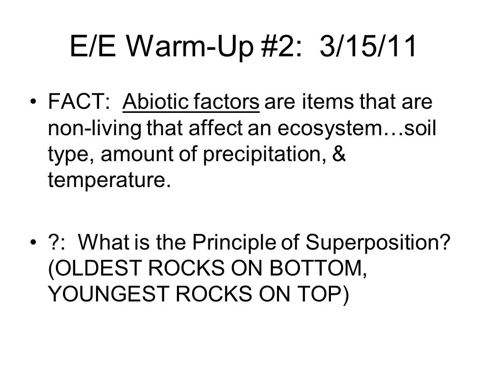 E/E Warm-Up #2: 3/15/11