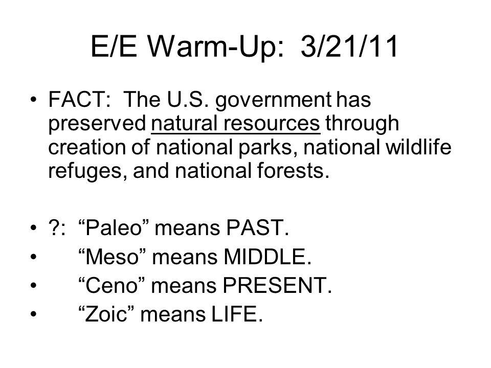 E/E Warm-Up: 3/21/11