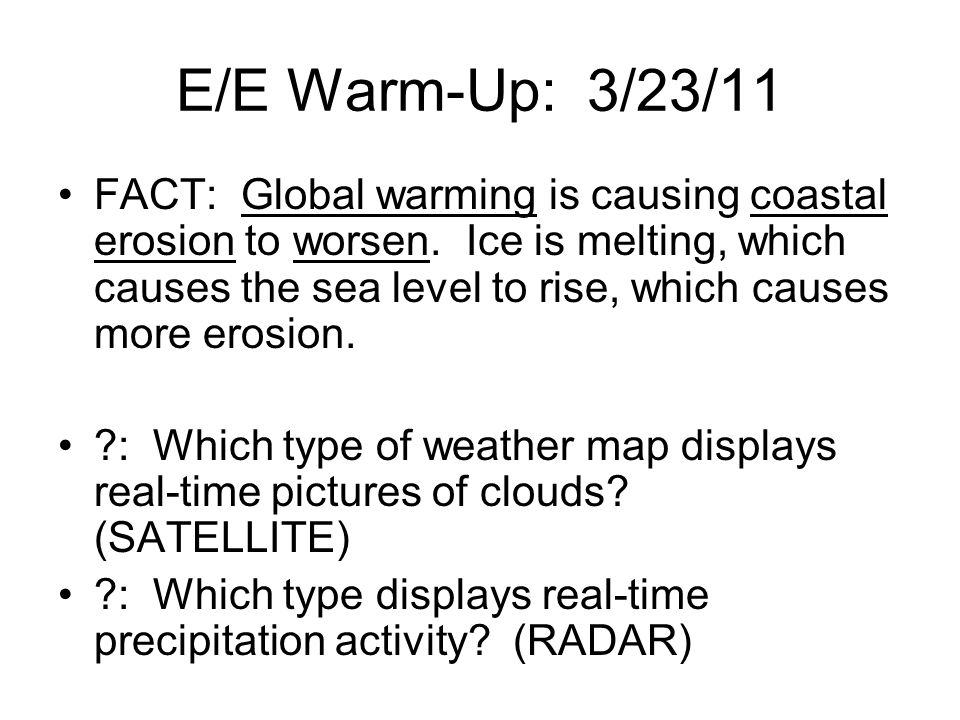 E/E Warm-Up: 3/23/11