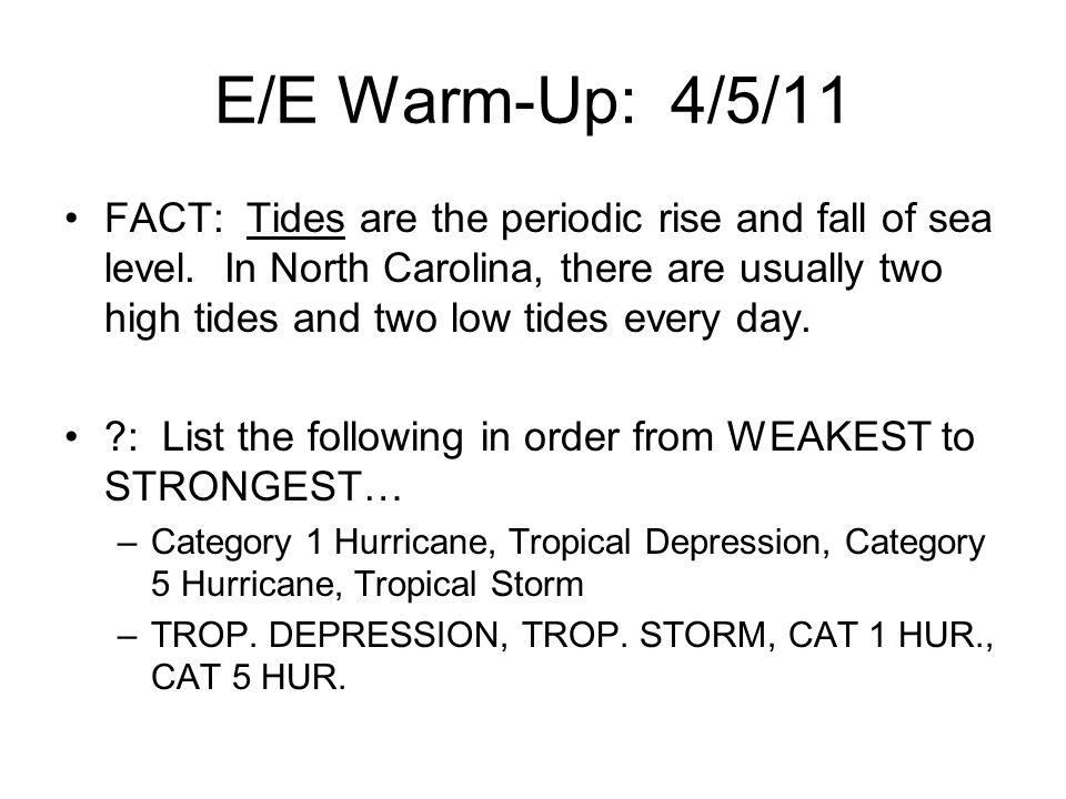 E/E Warm-Up: 4/5/11