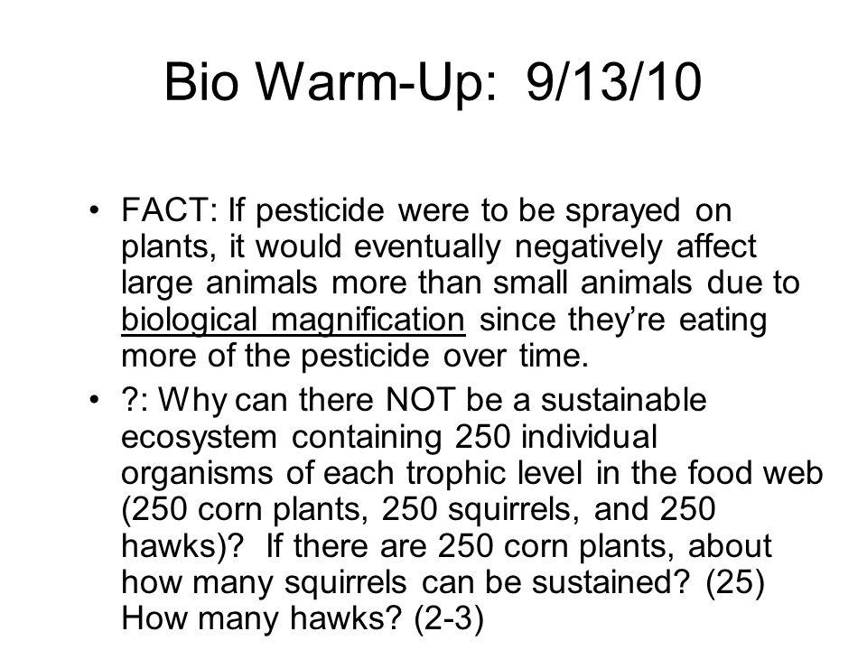 Bio Warm-Up: 9/13/10