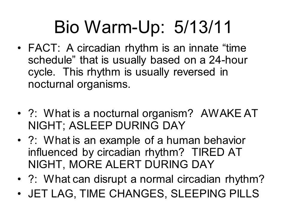 Bio Warm-Up: 5/13/11