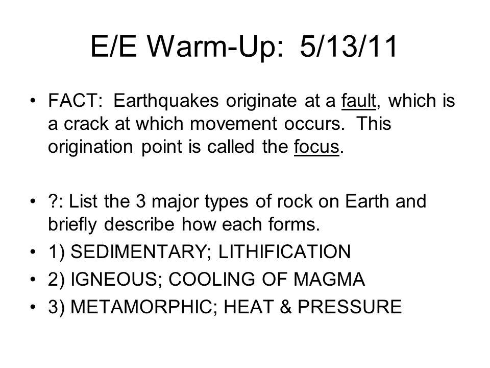 E/E Warm-Up: 5/13/11